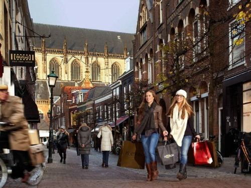 Shopping in Haarlem, the Netherlands