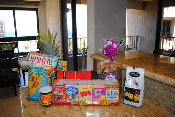 Maui Morning package breakfast goodies and snacks