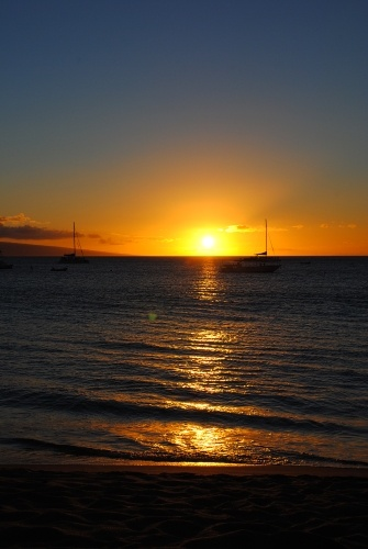 Sunset over Kaanapali Beach