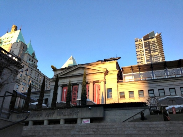 The Vancouver Art Gallery in the heart of downtown