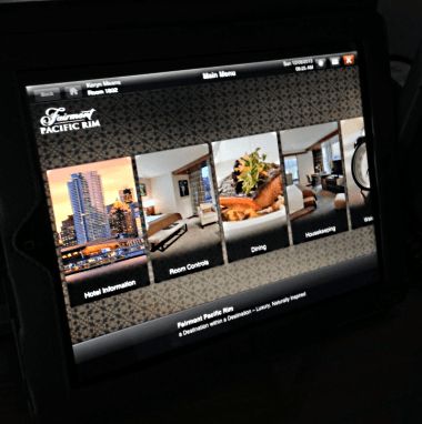 An in-suite iPad with your name on it