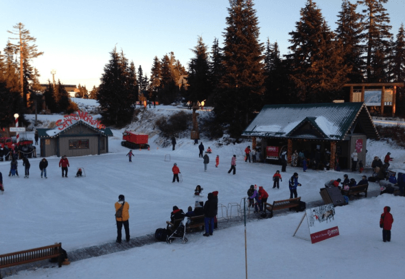 Take a spin on the Grouse Mountain skating rink