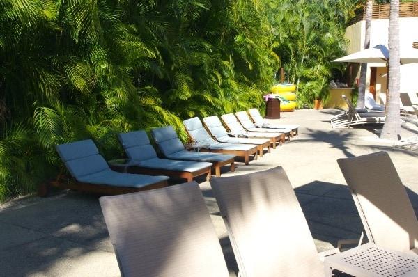 Kid-sized deck chairs at Four Seasons Punta Mita