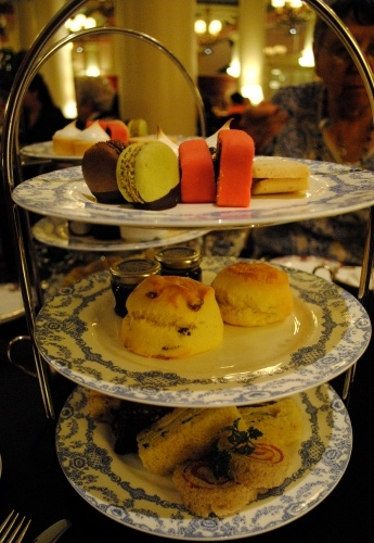 Three tiers of treats at the Empress Tea