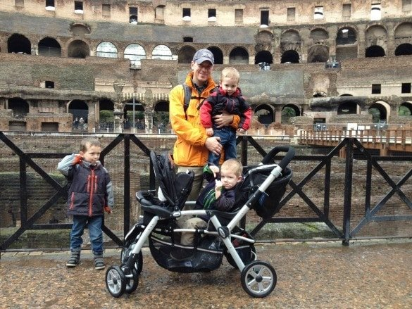 Travel Baby rental stroller at the Colosseum