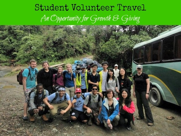 Student Volunteer Travel - An opportunity for growth & giving