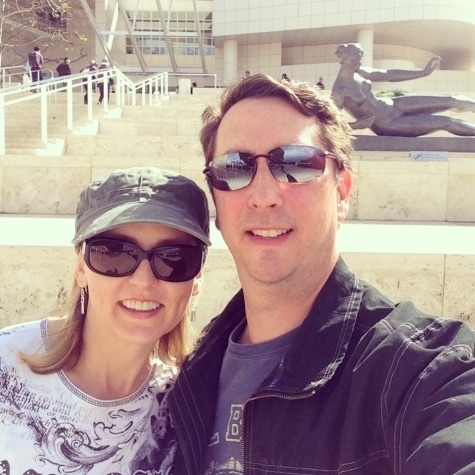 Exploring the Getty Museum with my husband after our Suite Surprise getaway at The Hotel Wilshire