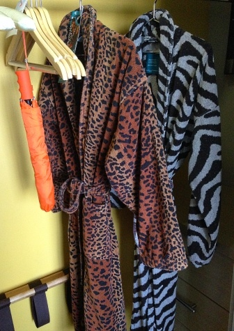 Animal print robes at The Hotel Wilshire