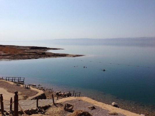 The lowest place on earth: the Dead Sea (Photo credit: Claudia Laroye)