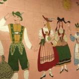 Bavarian-themed mural at Hofsas House