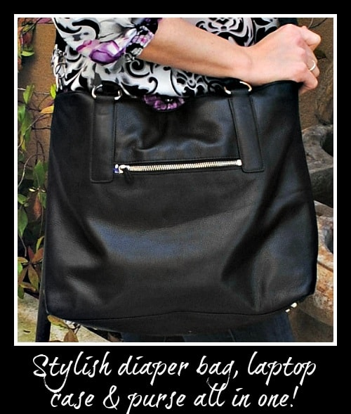 Overtime Bag - stylish diaper bag, laptop case & purse all in one!