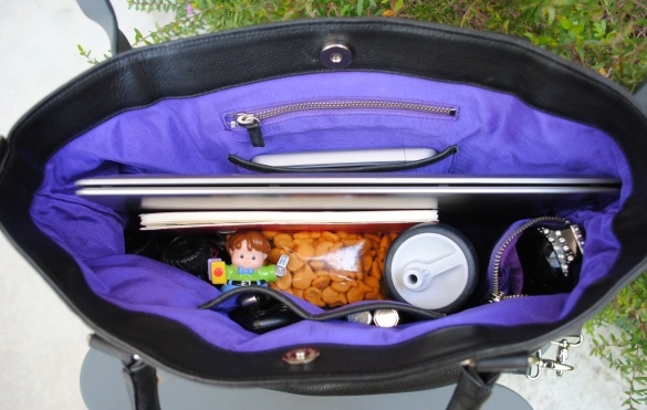 The Overtime Bag's spacious interior