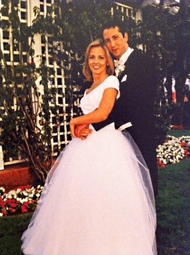 Young and in love on my wedding day in 2001 in San Diego