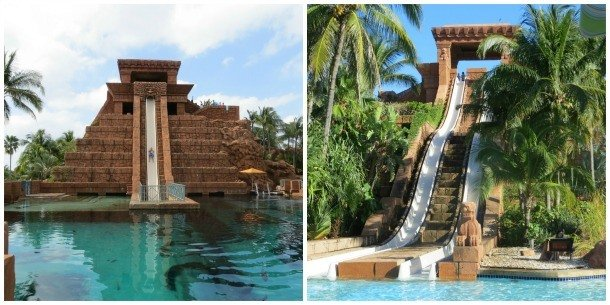 Bahamas Atlantis Leap of Faith and Challenger slides