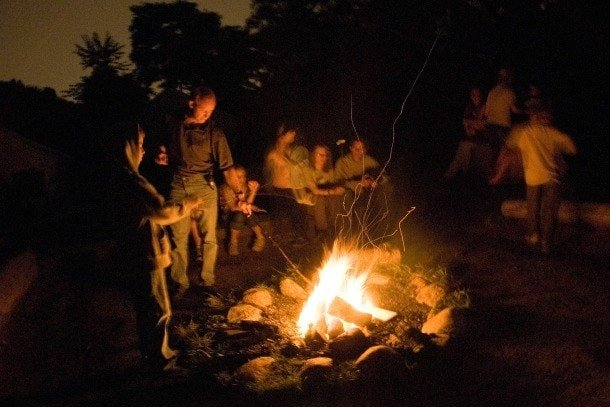Toronto Zoo Serengeti Bush Camp sleepover campfire