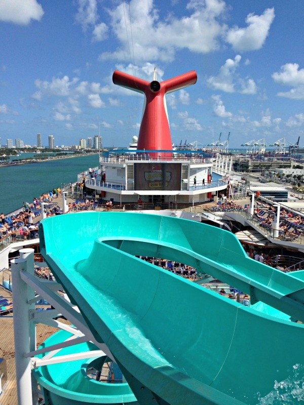 Waterslide fun on Carnival Liberty ~ 12 Essential Tips for Cruising with Kids