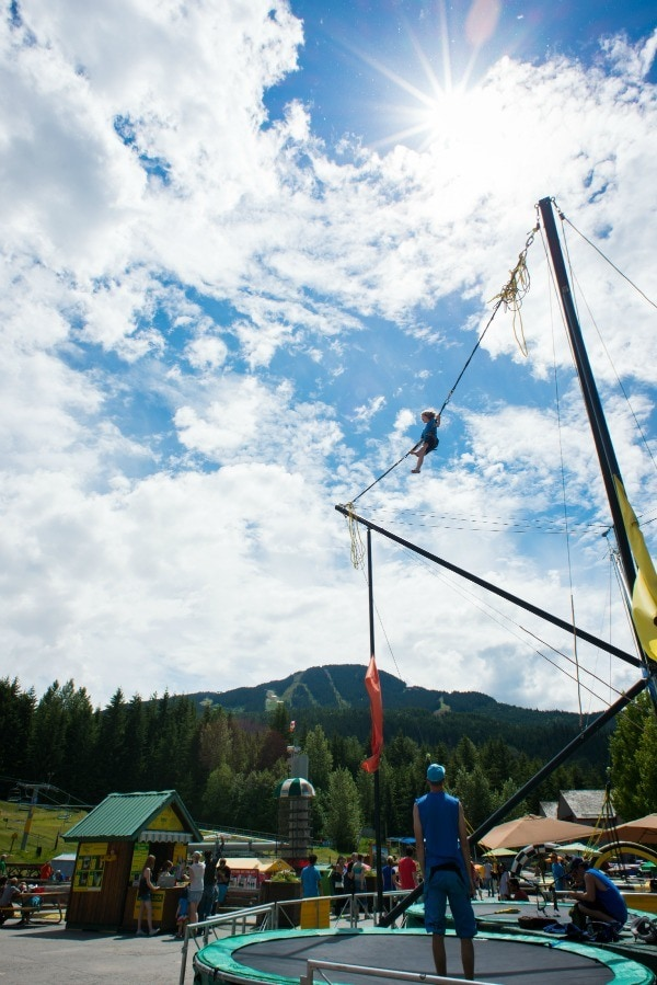 Upper Village Adventure Zone for kids at the base of Blackcomb (Credit: Mike Crane)