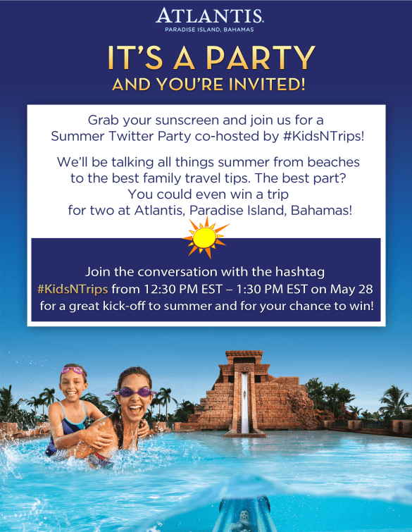 Summer Travel Twitter Party - Win an Atlantis Resort Vacation!