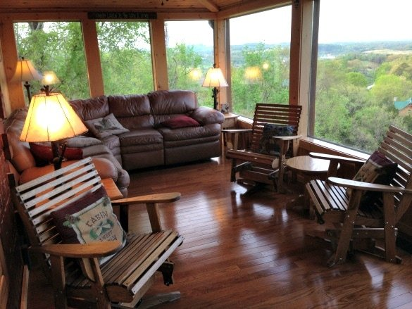 Check out the view from our Sevierville cabin!
