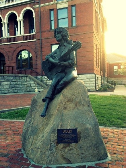 Downtown Sevierville statue of hometown resident Dolly Parton