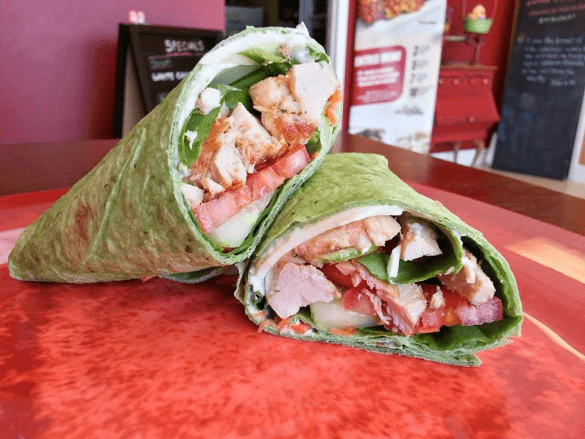 Chicken wrap from Healthy Balance Meals (Photo from the Healthy Balance Meals Facebook page)