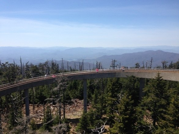 Clingmans Dome view of the Smoky Mountains