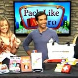 The Travel Mama Colleen Lanin giving travel tips on the Better TV Show with hosts JD Roberto and Rebecca Budig