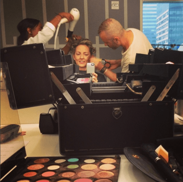 The Travel Mama Colleen Lanin getting all dolled up for Better TV
