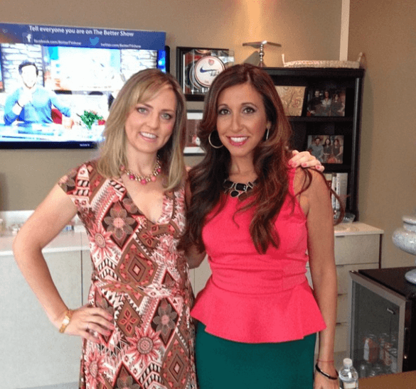 "The Travel Mama Colleen Lanin with Vikki Zieglar, host of Bravo's ""Untying the Knot"""