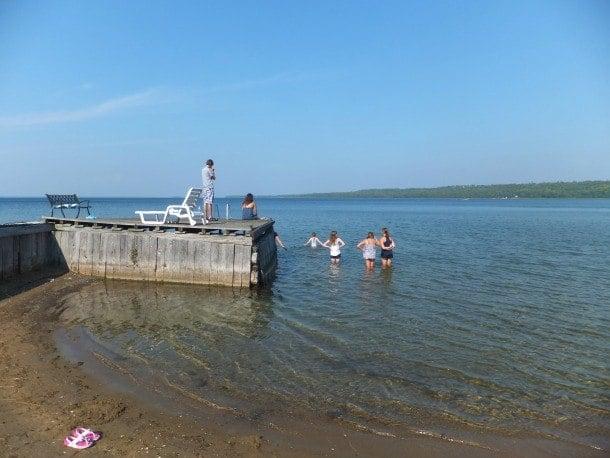 Canada Manitoulin Island Lake Huron kids