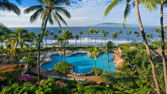 Just one of the gorgeous pools at the Hyatt Regency Maui Resort & Spa