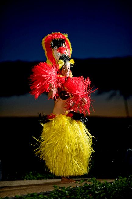 Hula performance at Maui Nui Luau at Black Rock at Sheraton Maui