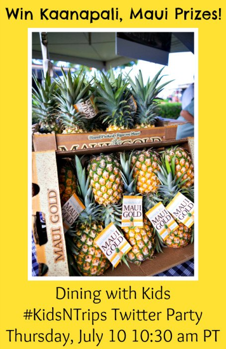 Dining with Kids Twitter Party - Win Kaanapali, Maui prizes!