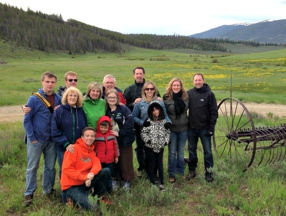Family reunion at Keystone Wagon Ride Dinner