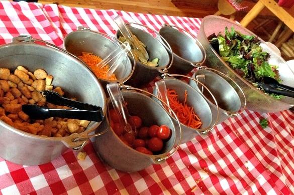 Keystone Wagon Ride Dinner salad bar