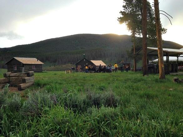 Keystone Wagon Ride Dinner campsite