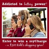 Addicted to power? Enter to win a myCharge + a $300 Kohl's giveaway!