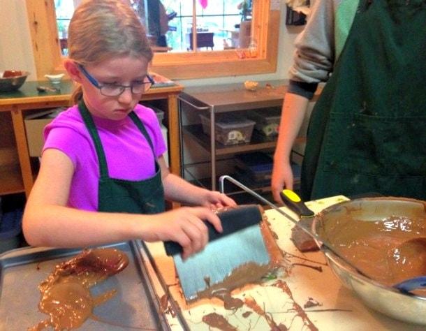 Making chocolates on PEI