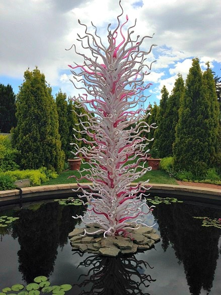 A Chihuly glass sculpture at the Denver Botanic Gardens (Photo credit: Colleen Lanin)