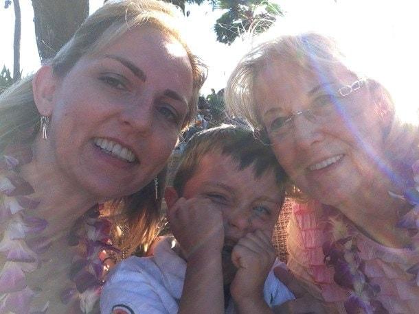 Three generations in Kaanapali, Maui