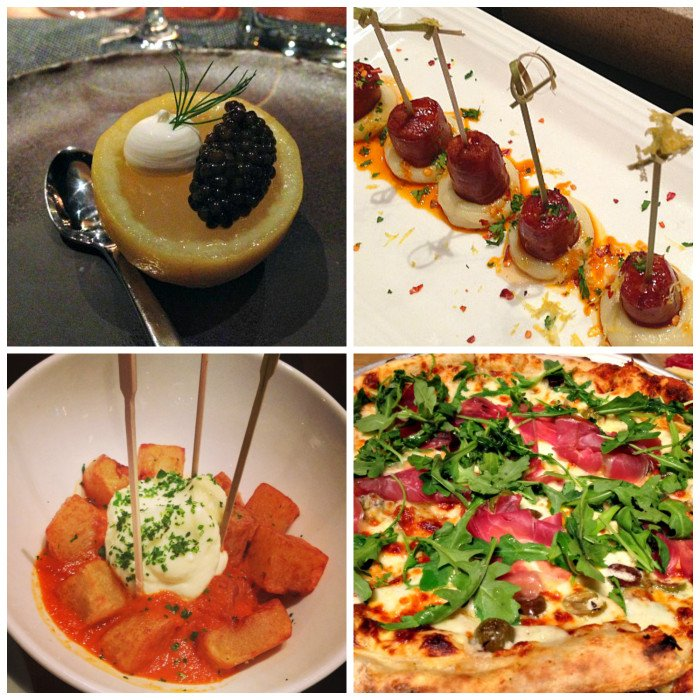 Samplings of food from Jean-Georges Steakhouse, Julian Serano Tapas, and Five50 at Aria