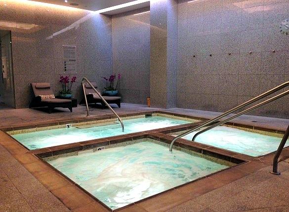 Hot tubs at the Aria Spa and Salon