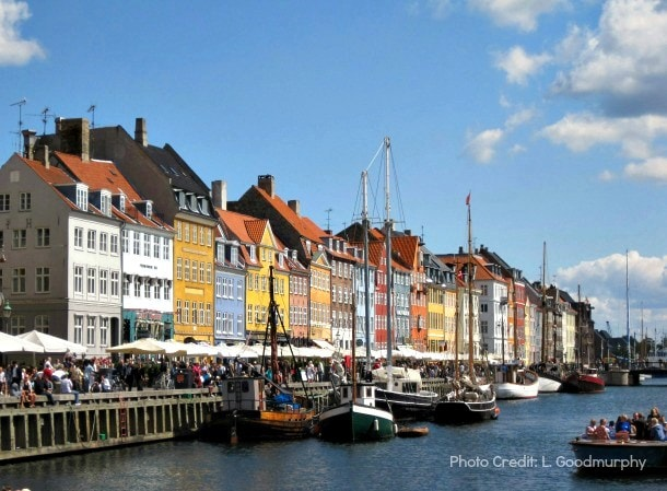Nyhavn (New Harbour) in Copenhagen, Denmark