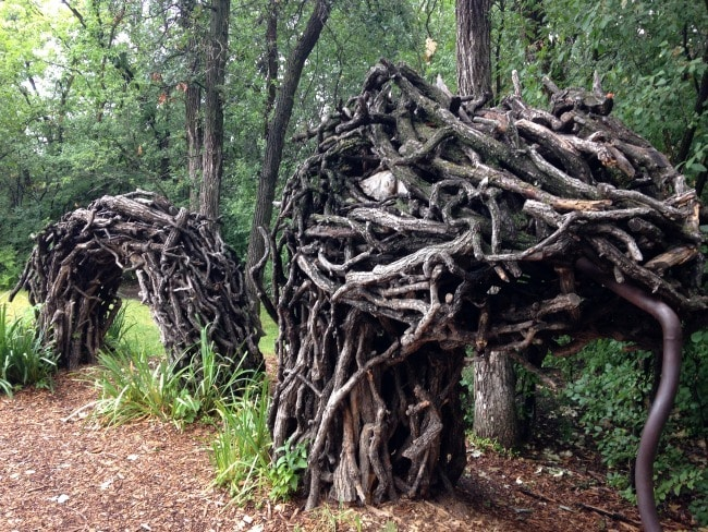 The natural playground at Assiniboine Park inspires creative play (Photo credit: Assiniboine Park Conservancy)