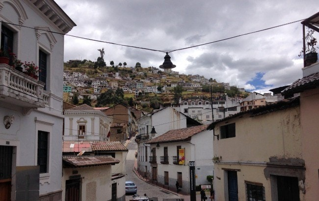 The old town in Quito