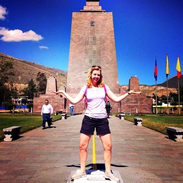 "The ""old equator"" at Mitad del Mundo in Quito, Equador (Photo credit Jody Robbins)"