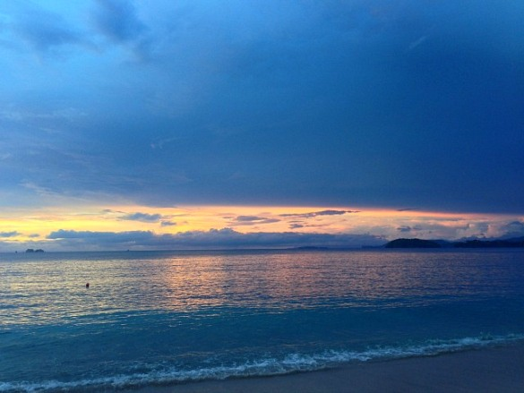 Don't miss the spectacular sunset at Playa Conchal (Photo credit: Claudia Laroye)