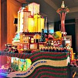 Seattle Christmas Season Fun - Seattle Christmas fun gingerbread display at the Sheraton Seattle (Photo credit: Claudia Laroye)