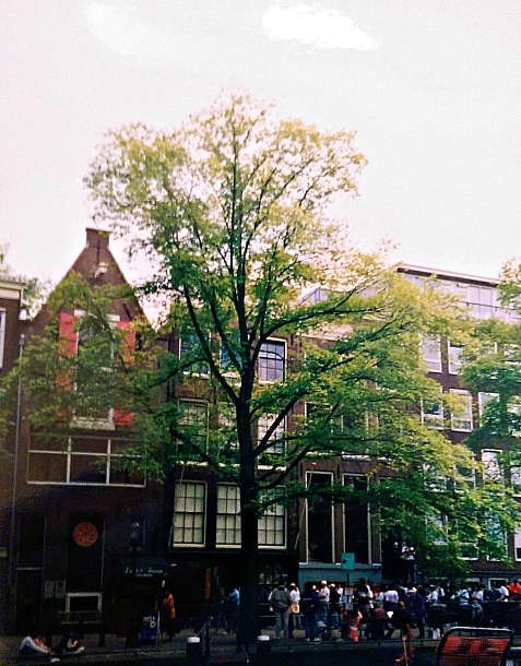 I visited Anne Frank's secret annex in Amsterdam, the Netherlands during the summer after my year abroad, which made Anne's story more tangible