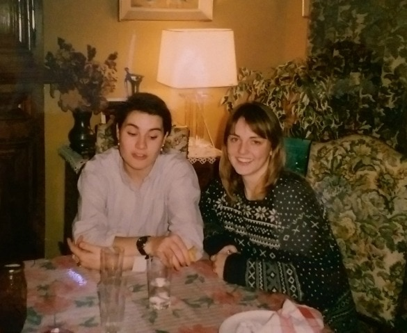 During my winter break from school, I revisited my foreign exchange host family in Normandy - Here I am with my host sister, Claire